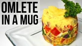 Mug omelett