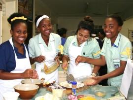 Nonuh Khumalo, Samke Mthalane, Jovana Muniz and Luyanda Mushathama, all from Campbell house