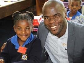 Amileh Nxumalo and her dad Sihle Nxumalo sharing a special moment