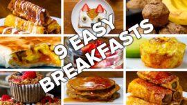 9 Easy weekend breakfasts