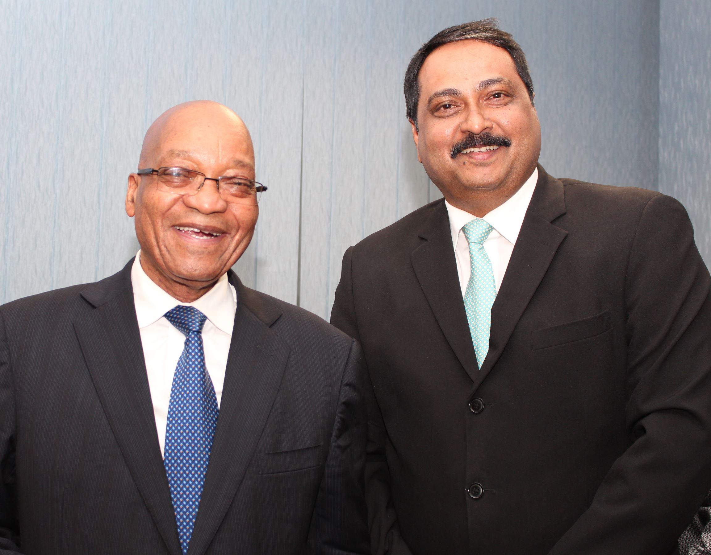 Zuma Meets Cele Dzumabus