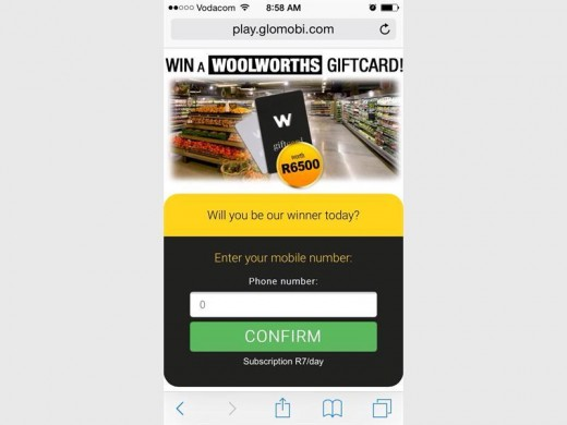 Woolworths gift card sms is a scam   Zululand Observer