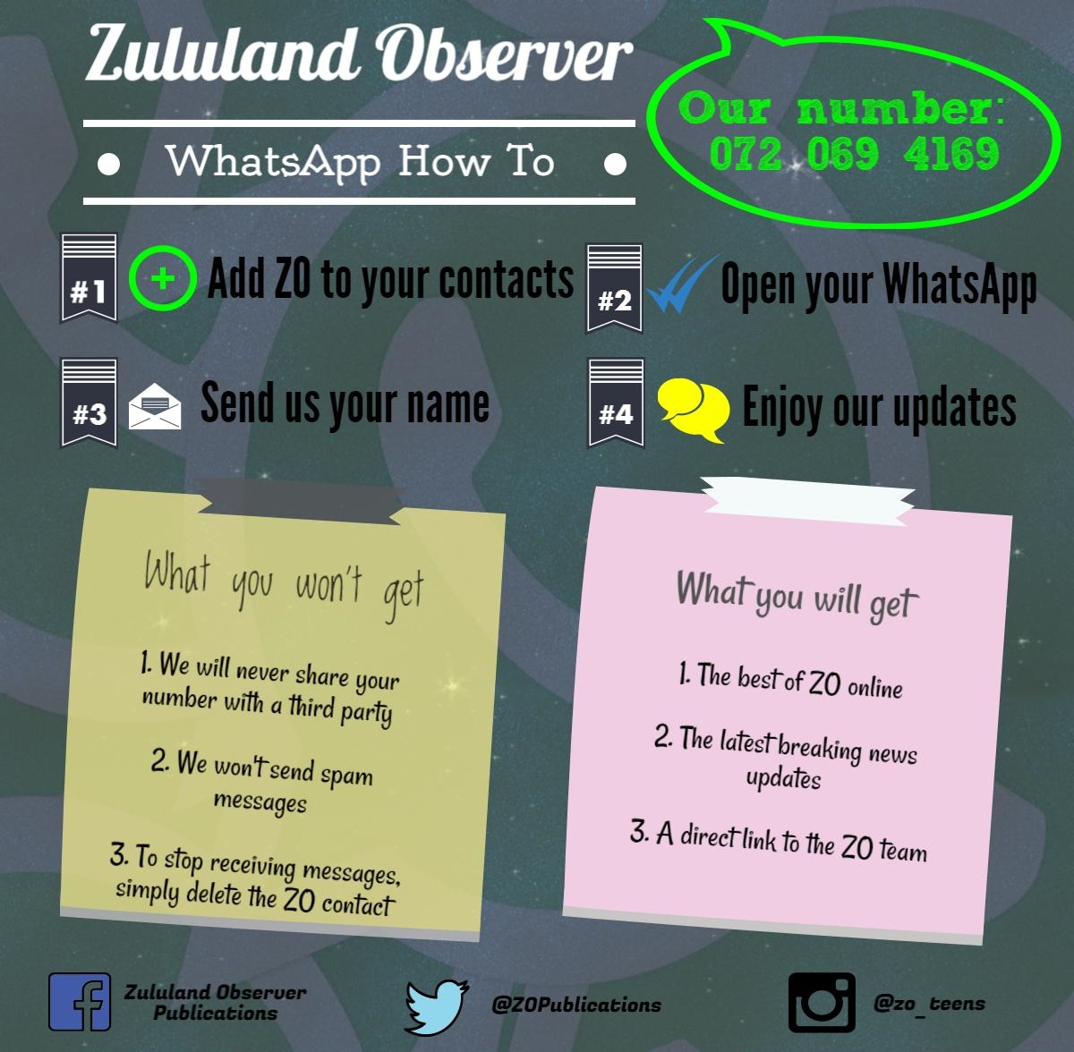 ZO now on WhatsApp – here's how you can sign up | Zululand Observer