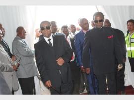 Prince Mangosuthu Buthelezi and King Goodwill Zwelithini arrive at the opening of the museum photo THANDO NDLOVU