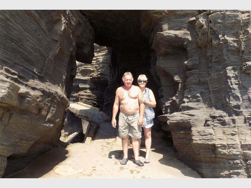 Danie Botha and his wife Belinda in happier times