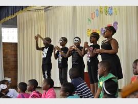 Performing 'Incy Wincy Spider' are Mlondi Zungu, Thando Sangweni, Baphephile Biyela, Mercy Ramonyai and Akhona Magubane