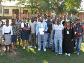 Mpukunyoni communities gathered at Mtubatuba Municipality seeking permission to organise a march to Somkhele mine  PHOTO: Tamlyn Jolly