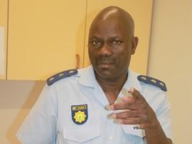 eSikhawini SAPS spokesperson, Captain Thembinkosi Mkhumane PHOTO: Wellington Makwakwa
