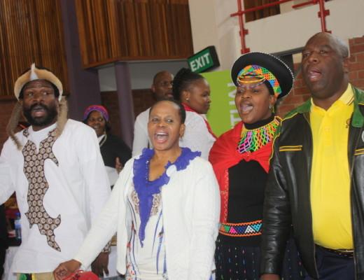 In high spirit were TV Mhlongo (Cosatu), Dudu Sibiya (ANC's regional deputy secretary), Xoli Mathenjwa (SADTU) and Nhlakanipho Mthethwa (SANCO)
