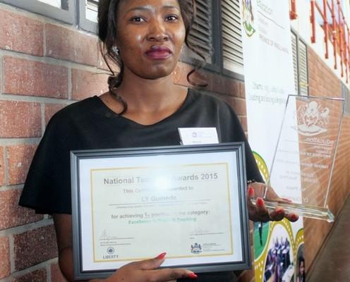The winner of the NTA Grade R Best Teacher award was Vondlo Primary School teacher, Lindiwe Gumede