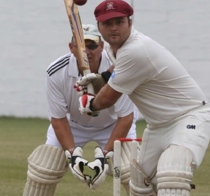 eShowe's Angus Kramer scored a game winning 87, which included eight sixes and five fours. He is watched by Felixton wicketkeeper Giel Theunissen PHOTOS: Larry Bentley