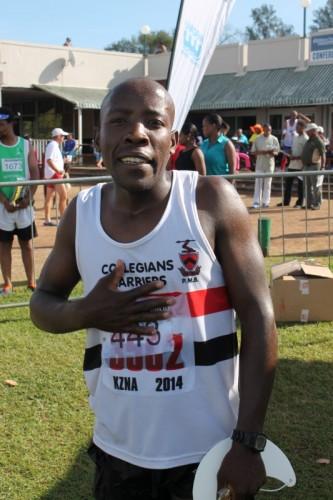 USanele Ndlela owine umjaho iMngeni Half Marathon.