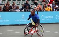 Umdlali wethenisi uLucas Sithole lapha wathathwa ngonyaka odlule emqhudelwaneni we inAirports Company South Africa SA Wheelchair Tennis Open e-Ellis Park Tennis Centre eGoli.
