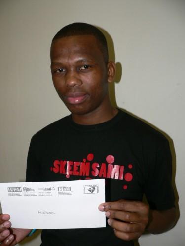 UMichael Dlamini (25) waseZingolweni eSayidi uwine ithikithi lokuyozijabulisa kulempela sonto e-Ugu Sports and Leisure Centre, la ekuyobe kukhona i-Ugu Jazz Festival. Syakubongela Michael.