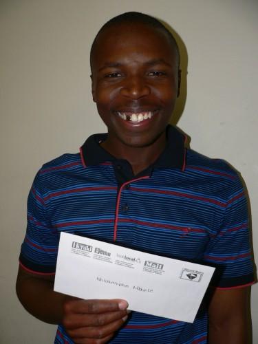 UNhlakanipho Mbhele (27) ujabule kakhulu njengoba ewine ithikithi le-Ugu Jazz Festival ezobe ikulempela sonto e-Ugu Sports and Leisure. Siyakubongela Mbhele.