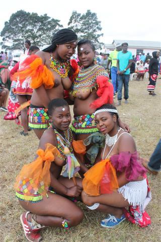 Topless african zulu dance 9