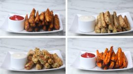 4 ways of making snack wedges