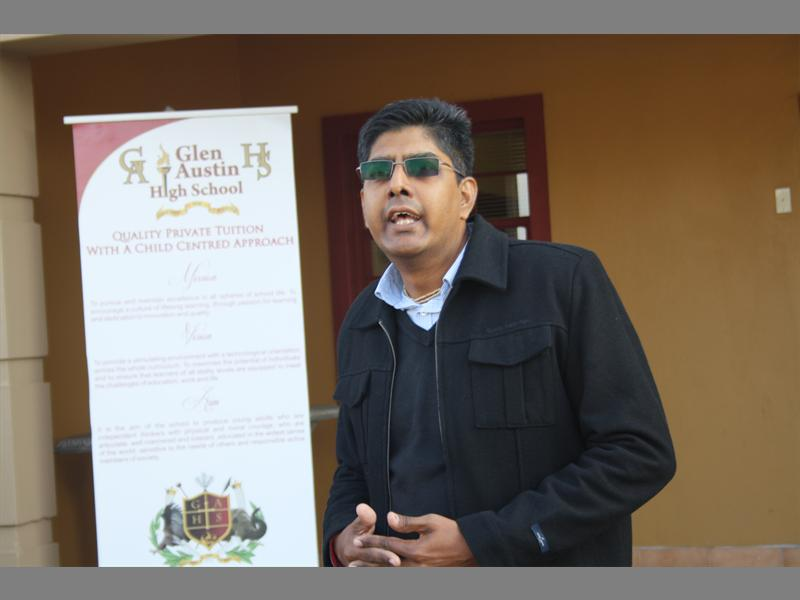 Vinesh Maharaj of Food for life collects the donated food stuff for charity at Glen Austin High School.