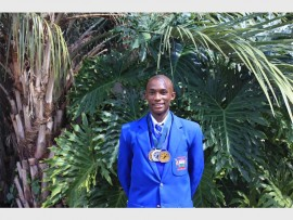 Olebogeng Chere, a Grade 11 pupil of Midrand Primary and High School, excelled in the District 9 Athletics.