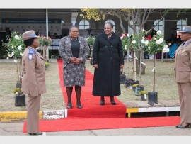Department of Community Safety MEC Sizakhele Nkosi-Malobane with the Minister of Transport, Dipuo Peters.
