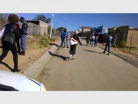 Ivory Park Police Station and its youth desk members visit Kaalfontein Ext 5 for a door-to-door crime awareness campaign.