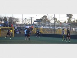Teams play soccer at Kappa Park Kyalami.