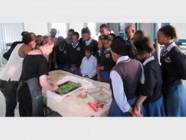 Phomolong Secondary School pupils experience skills training on International Day of Print.