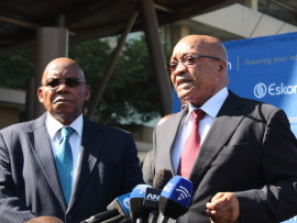 Chairperson-of-the-Eskom-Board-Dr-Ben-Ngubane-with-President-Jacob-Zuma.