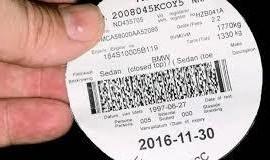 Vehicle license disc. Photo: 2oceanvibes.com