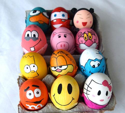 گالری تزیین تخم مرغ عید,تخم مرغ رنگی,تخم مرغ هفت سین