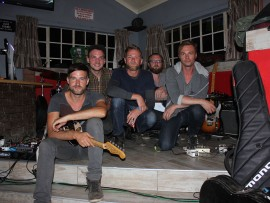 Livingston band members, Jakob Nebel, Jan Siekmann, Beukes Willemse, Phil Magee and Chris van Niekerk.