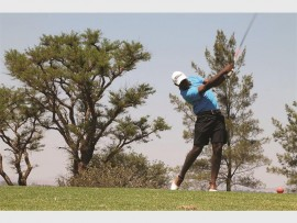 Stock Photo: In the picture is golfer, Elvis Sithole.