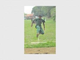Jonathan Raghoo showing some long jump style.