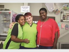 Sonto Mkhwanazi, Chante Lello and Linda Makhubo greet their staff with warm smiles.