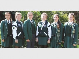 KZN Girls Hockey: Carla Boshoff, Erné Pretorius, Jonelle Geldenhuys, Nicolé Grobler, Marike Roos, Nadine Steyl.