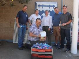 Johan Ferreira with Quentin Ferreira, Elmar Gouws, Peter Hanekom, Marais Pretorius and Norman Forbes.