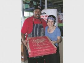 Panarottis chef, Steven Gumede and Veronica van Niekerk.