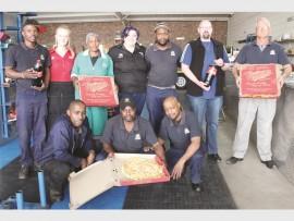 Back: Sifiso Jele, Donnè Botha, Janet Gama, Janri van der Merwe, Bongani Ntombela, Riaan van Rooyen, Dean Bezuidenhout. Front: Mazwi Shezi, Sibusiso Mathe and Innocent Dhladhla.