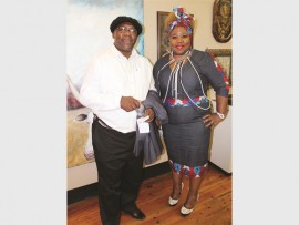 Curator of the Luthuli Museum in Durban, Vusi Buthelezi, with Samke Dube.