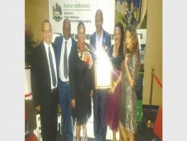 Mayor Makhosini Nkosi and officials from Newcastle Municipality.
