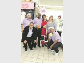 Back: Jeffery Marais, Sbusiso Dhldhla, Margery Meijerink, Michelle Bezuidenhout. Front: Geneo Pikes and Sbusiso Dlamini.