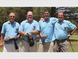 Gideon Craffert, Gary Williams, Ben Chowles and Brandt vd Berg soak in the sunshine.
