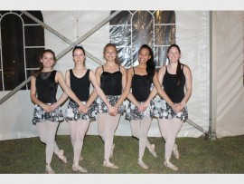 Ballet dancers entertain the crowds.