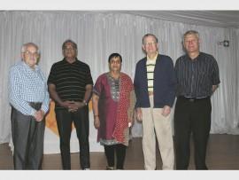 Bennie Botha, Vishum and Rantha Gopi, Chris le Roux and Tom George.