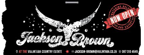 Jackson Brown Tel: 087 310 4545