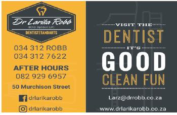 Dr. Larika Robb Tel; 034-312-7622