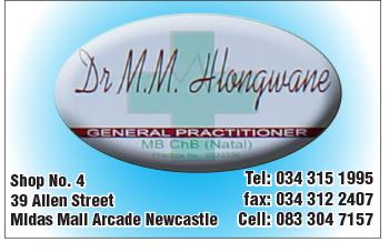 Dr M. M. Hlongwane Tel: 034-315-1995