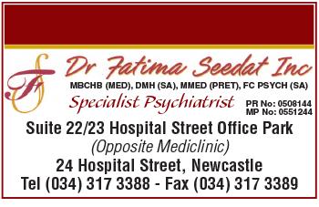 Dr Fatima Seedat Tel: 034-317-3388