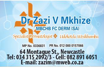Dr Zazi Mkhize Tel: 034-315-2092