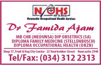 Dr. Famida Ajam Tel: 034-312-2313